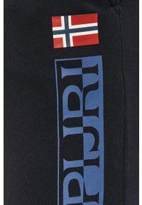Niebieskie spodnie dresowe Napapijri z nadrukiem