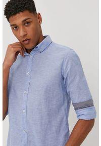 Niebieska koszula Tom Tailor z długim rękawem, na co dzień, button down