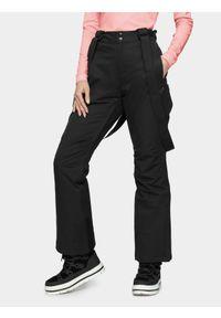 4f - Spodnie narciarskie damskie. Kolor: czarny. Materiał: poliester. Sezon: zima. Sport: narciarstwo