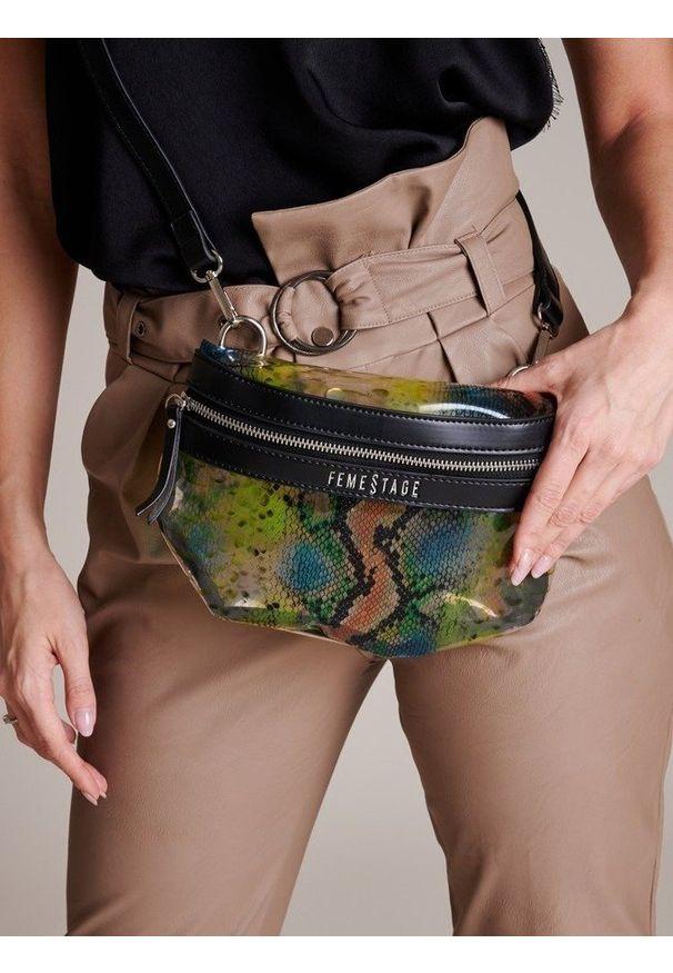Wielokolorowa torebka FEMESTAGE Eva Minge zdobiona, z aplikacjami