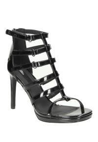 Czarne sandały Blink w kolorowe wzory, na co dzień, klasyczne, na lato