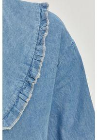 Niebieska koszula Answear Lab długa, z klasycznym kołnierzykiem, na co dzień, wakacyjna