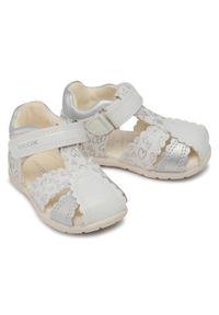 Geox - Sandały GEOX - B Elthan G. C B151QC 0HI10 C0007 White/Silver. Kolor: biały. Materiał: materiał