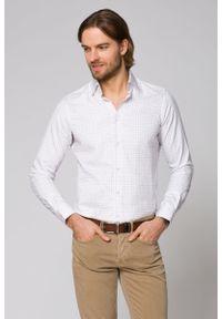 Biała koszula Lancerto w kolorowe wzory