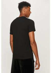 Czarny t-shirt Diesel na co dzień, casualowy, z nadrukiem