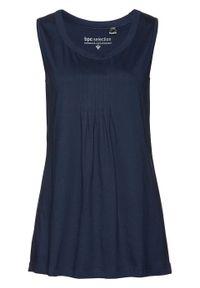 Niebieski top bonprix elegancki, długi