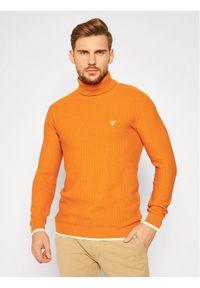 Pomarańczowy golf Guess z golfem #5