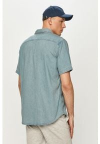 Niebieska koszula Levi's® gładkie, z klasycznym kołnierzykiem, z krótkim rękawem