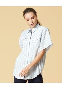 Biała koszula Manila Grace w paski, klasyczna