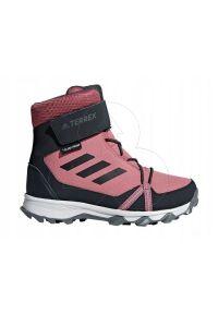 Białe buty trekkingowe Adidas ClimaProof (Adidas), Adidas Terrex, z paskami, wąskie
