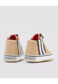 BURBERRY CHILDREN - Beżowe buciki Burberry Children. Kolor: beżowy. Materiał: bawełna