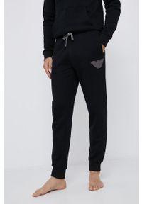 Emporio Armani Underwear - Spodnie. Kolor: czarny. Materiał: dzianina. Wzór: aplikacja