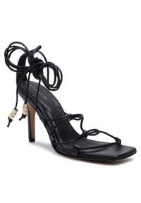 Czarne sandały AllSaints eleganckie