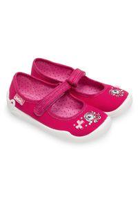 Tenisówki dziecięce Befado 114X299 Różowe. Zapięcie: rzepy. Kolor: różowy. Materiał: tkanina, tworzywo sztuczne, materiał