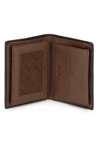 Wittchen - Męski portfel skórzany z rozcięciem. Kolor: wielokolorowy, brązowy, czarny. Materiał: skóra. Wzór: kolorowy
