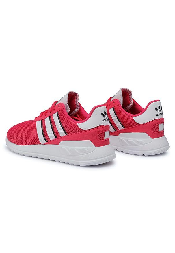 Różowe półbuty Adidas z cholewką