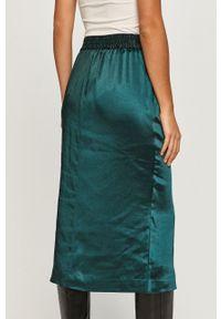 Zielona spódnica DKNY na co dzień, casualowa, z podwyższonym stanem