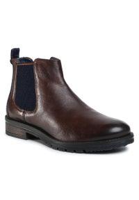 Brązowe buty zimowe Wrangler na co dzień, casualowe, z cholewką