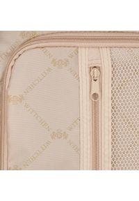 Wittchen - Średnia walizka z polikarbonu w paseczki. Kolor: czarny. Materiał: tworzywo sztuczne, guma. Wzór: geometria