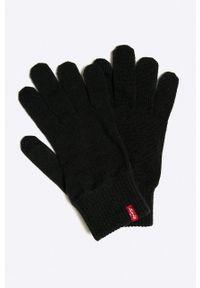 Niebieskie rękawiczki Levi's® biznesowe, w kolorowe wzory