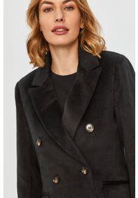Czarny płaszcz Answear Lab bez kaptura, na co dzień