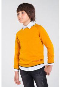 Pomarańczowy sweter Mayoral na co dzień, z okrągłym kołnierzem, casualowy