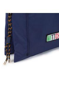 Wittchen - Damski plecak ze ściągaczem. Kolor: niebieski. Materiał: nylon. Wzór: paski, aplikacja. Styl: klasyczny, młodzieżowy