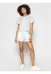 Champion T-Shirt Small Script Logo Crew Neck 112195 Szary Regular Fit. Kolor: szary