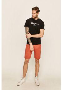 Pepe Jeans - T-shirt Eggo. Kolor: czarny. Materiał: dzianina. Wzór: nadruk