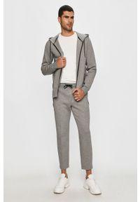 Szara bluza rozpinana Calvin Klein z kapturem