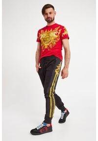 Versace Jeans Couture - SNEAKERSY VERSACE JEANS COUTURE. Nosek buta: okrągły. Zapięcie: sznurówki. Wzór: aplikacja