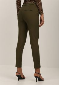 Zielone spodnie materiałowe Renee