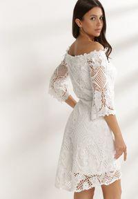 Renee - Biała Sukienka Glysvienne. Kolor: biały
