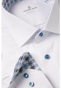 Biała koszula Emanuel Berg elegancka, z klasycznym kołnierzykiem
