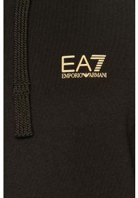 EA7 Emporio Armani - Bluza bawełniana. Okazja: na co dzień. Kolor: czarny. Materiał: bawełna. Styl: casual