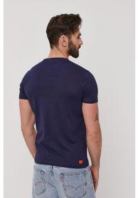 Diesel - T-shirt. Okazja: na co dzień. Kolor: niebieski. Wzór: nadruk. Styl: casual