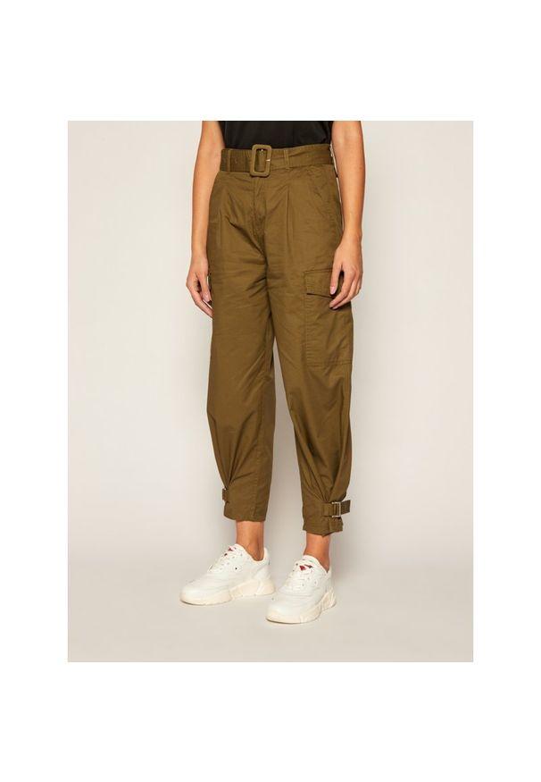 Zielone spodnie Tommy Jeans