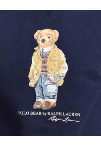 Ralph Lauren - RALPH LAUREN - Granatowa bluza z misiem Polo. Okazja: na spacer, do domu. Typ kołnierza: polo. Kolor: niebieski. Materiał: dresówka, jeans, bawełna. Długość rękawa: długi rękaw. Długość: długie. Sezon: jesień. Styl: klasyczny
