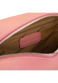 Wittchen - Damska listonoszka pudełkowa. Kolor: różowy. Materiał: skórzane. Styl: klasyczny. Rodzaj torebki: na ramię