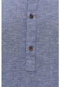 Jack & Jones - Longsleeve. Typ kołnierza: kołnierzyk stójkowy. Kolor: fioletowy. Materiał: tkanina. Długość rękawa: długi rękaw. Długość: długie. Wzór: gładki