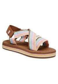 Sandały Roxy w kolorowe wzory