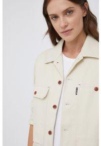 G-Star RAW - G-Star Raw - Koszula bawełniana. Kolor: beżowy. Materiał: bawełna. Długość rękawa: długi rękaw. Długość: długie