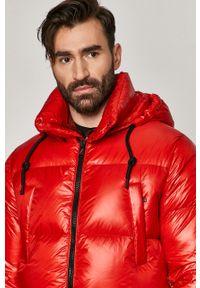 Czerwona kurtka After Label z kapturem