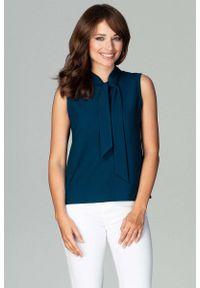 Zielona bluzka Katrus bez rękawów, elegancka