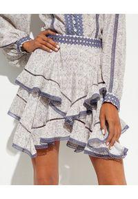 IXIAH - Mini spódnica Outbloom. Kolor: biały. Wzór: haft, aplikacja, nadruk
