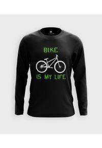MegaKoszulki - Koszulka męska z dł. rękawem Bike is my life. Materiał: bawełna