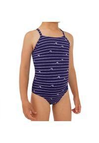 OLAIAN - Kostium kąpielowy jednoczęściowy HANALEI 100 ASAHI dla dzieci. Materiał: poliester, poliamid, materiał, elastan