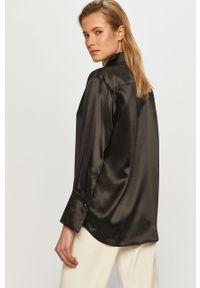 Czarna koszula The Kooples casualowa, na co dzień, z długim rękawem, długa