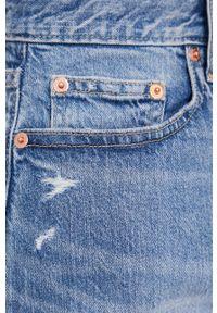 GAP - Spódnica jeansowa. Okazja: na co dzień. Kolor: niebieski. Materiał: jeans. Styl: casual
