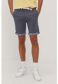 Niebieskie szorty Tom Tailor gładkie, na co dzień, casualowe